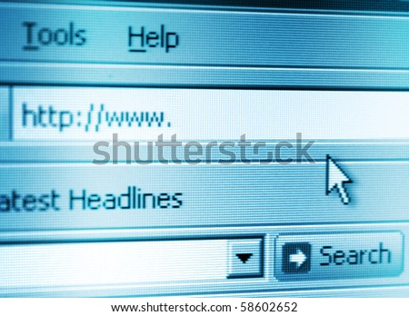 A photograph of panel address - stock photo