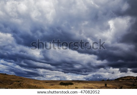 A photography of a dark sky background - stock photo