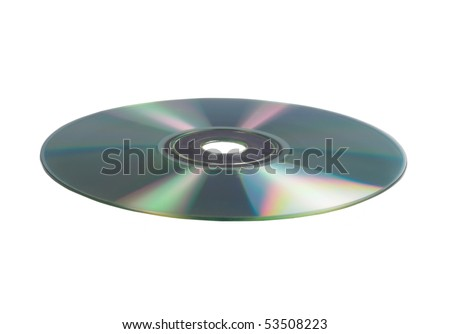 A photography of a isolated cd rom on white background - stock photo