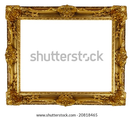 a picture frame on a white - stock photo