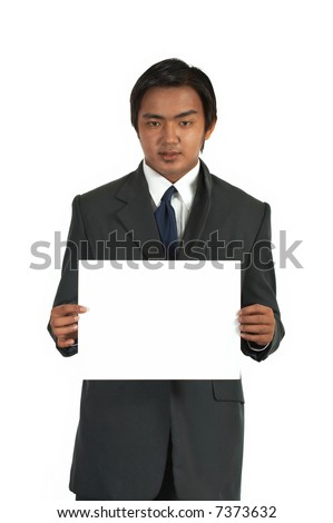a picture of a businessman over a white background - stock photo