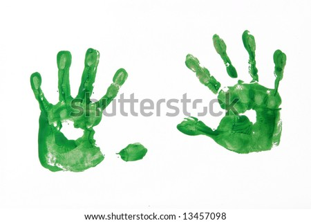 A picture of a five year olds hands - stock photo