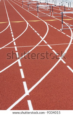 a picture of a track and field venue - stock photo