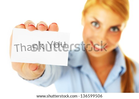 A picture of a young beautiful woman talking on the phone over white background - stock photo