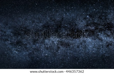 A picture of majestic Milky Way with countless stars - stock photo
