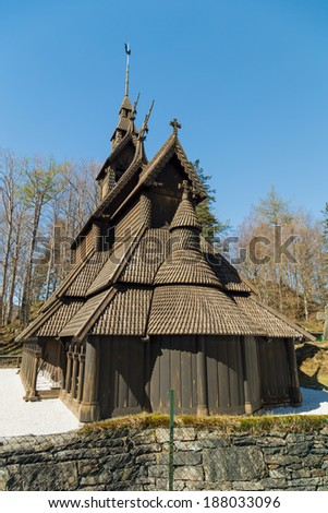 A picture of the fana stavechurch