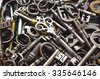 A Pile of Antique Keys - stock photo