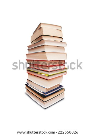 A pile of class books