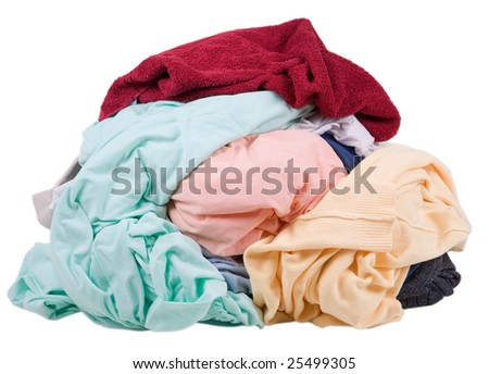 A pile of dirty laundry - stock photo