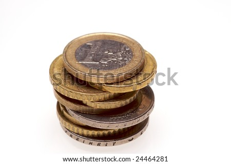 A pile of euro cent coins - stock photo