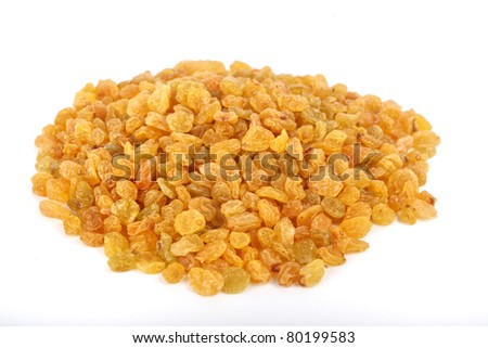 A pile of golden raisins.