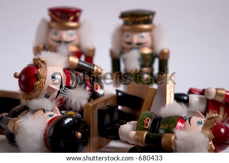 A pile of nutcrackers - stock photo