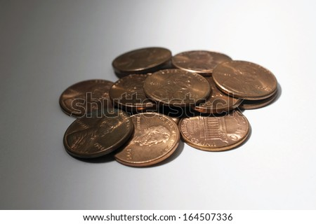 A Pile of Pennies - stock photo