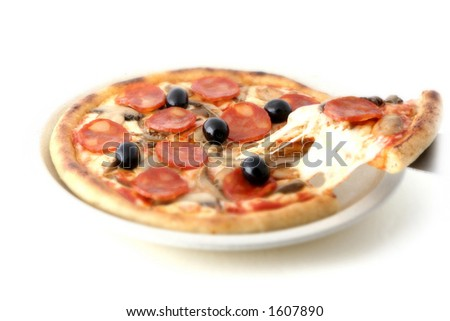 A pizza - stock photo