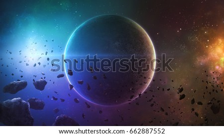 Asteroid stock images royalty free images vectors for 3d map of outer space