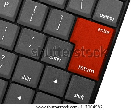 A plastic keyboard against a white background