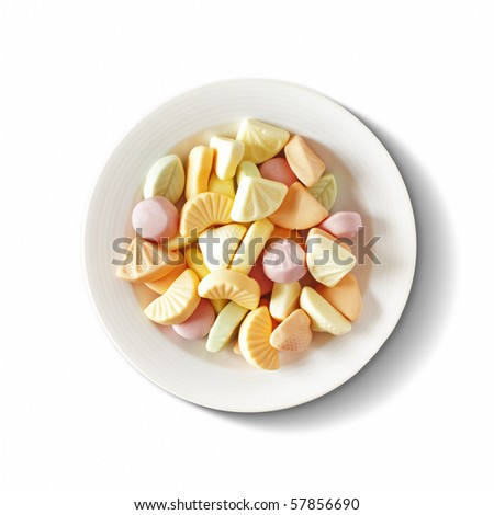 a plate full of sweets - stock photo