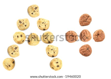 A Plus Good Grade Done with Cute Cookies - stock photo