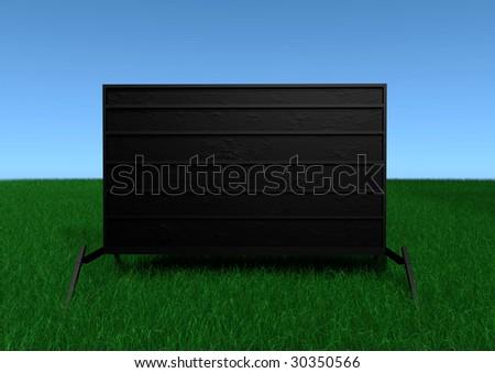 A portable outdoor sign. - stock photo