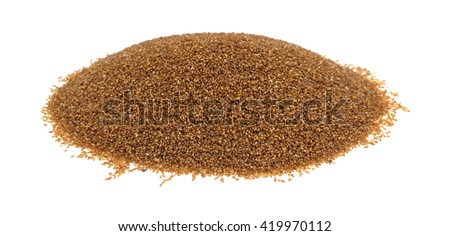 A portion of teff grain isolated on a white background.