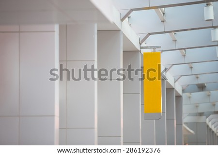 A portrait of a blank billboard or sign for advertisement - stock photo