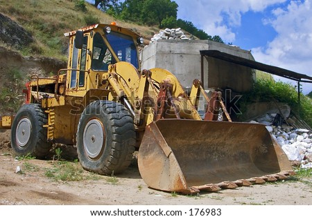 A portrait of a bulldozer