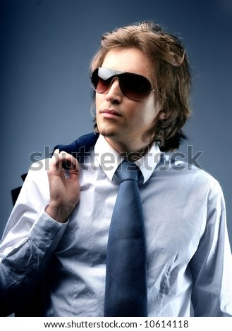 a portrait of a man - stock photo