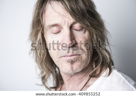 A Portrait of a man in studio  - stock photo