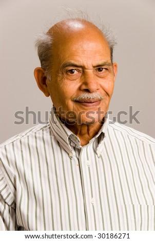 A portrait of a senior East Asian man - stock photo
