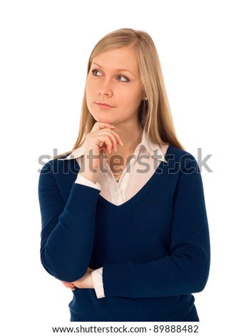 A portrait of a young business woman - stock photo