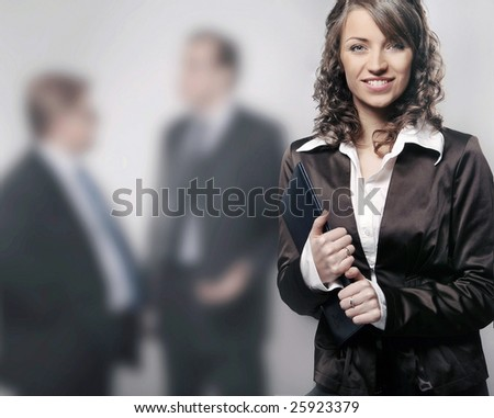a portrait of a young professional businesswoman - stock photo