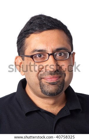 A portrait of an Indian man - stock photo