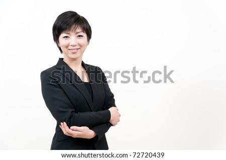 a portrait of asian businesswoman - stock photo