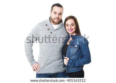 A Portrait of attractive young couple smiling,