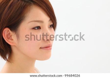a portrait of beautiful asian woman - stock photo