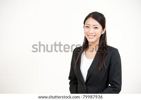 a portrait of beautiful businesswoman - stock photo