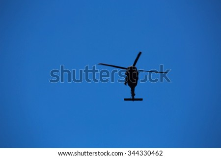 A portrait of the city New York places and famous places. Helicopter - stock photo