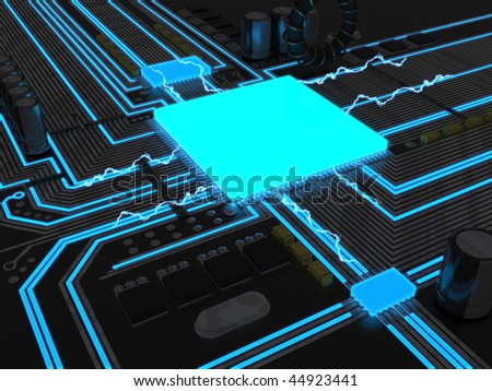 A powerful CPU - stock photo