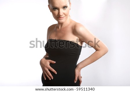 A pregnant girl - stock photo