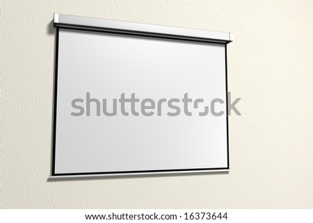 A presentation with a projector - stock photo
