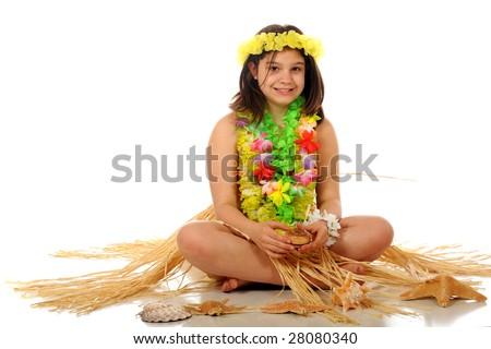 Girl Grass Skirt