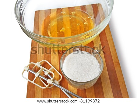 A process is preparation of the home baking - stock photo