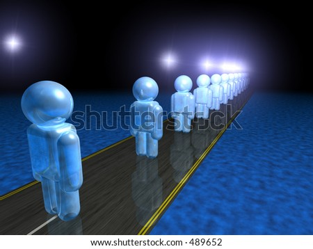 A production line - human resources - stock photo