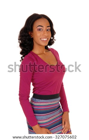 A profile image of a african american women in a burgundy top an a colorful
