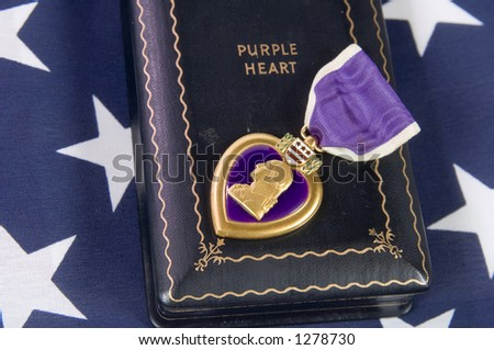 A Purple Heart 07 (memorial day series) - stock photo