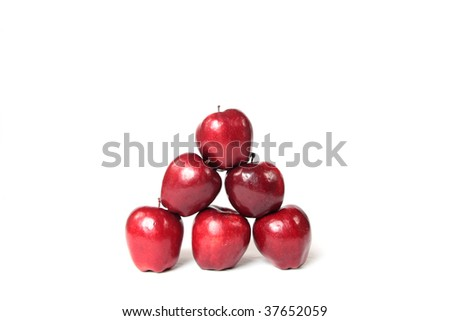 A pyramid of apples. - stock photo