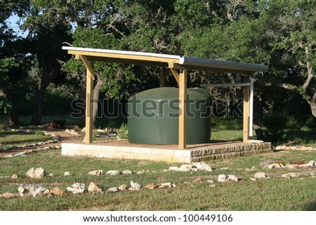 A rainwater collection system - stock photo