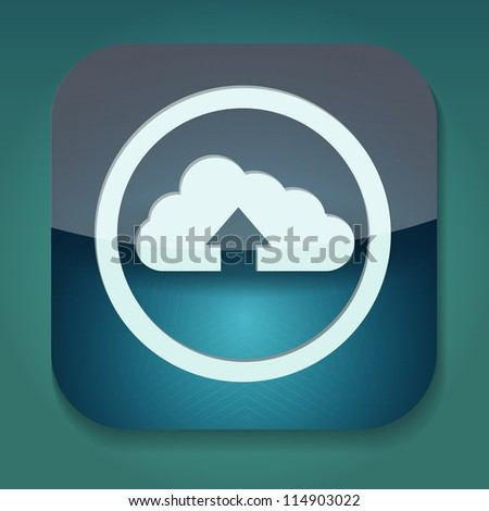 a raster version of upload icon with cloud - stock photo