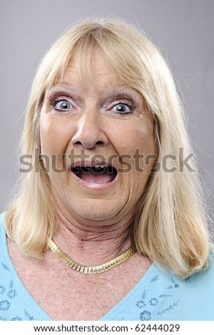 A real funny face captured in high detail - stock photo