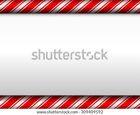 A red and white candy cane theme Christmas background. - stock photo